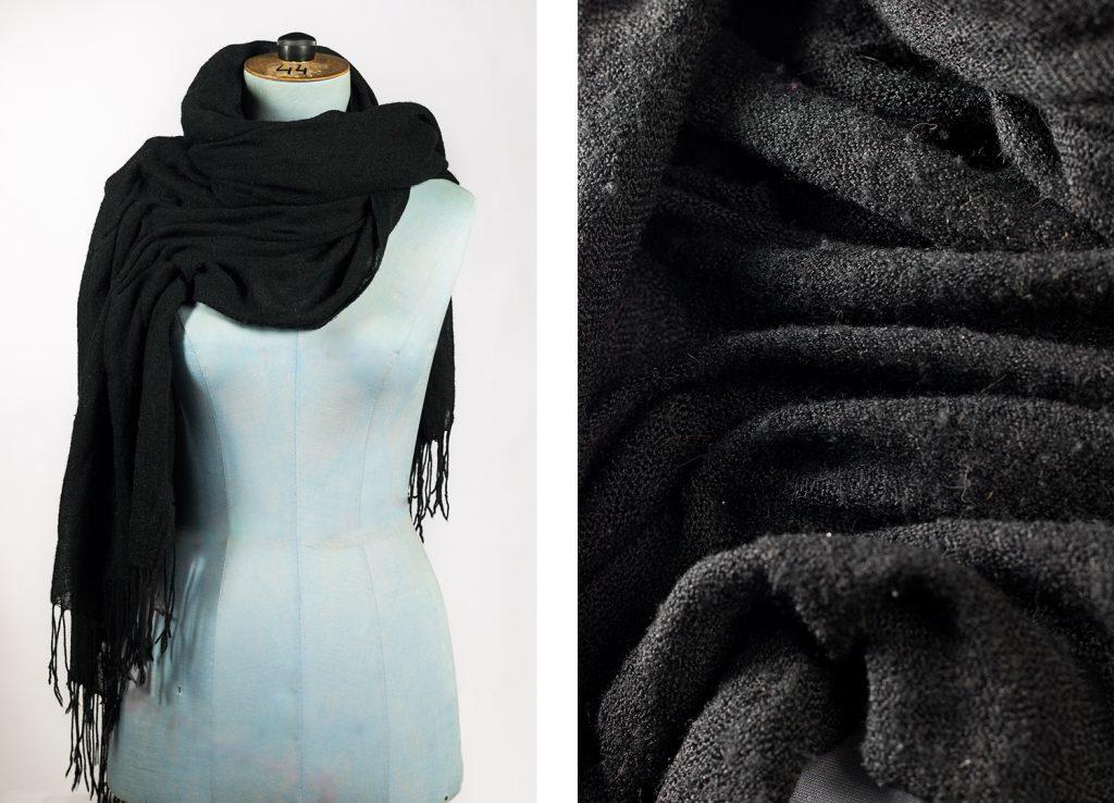 Matière textile écharpe