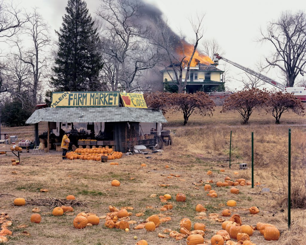 Joel Sternfield pumpkins firemen