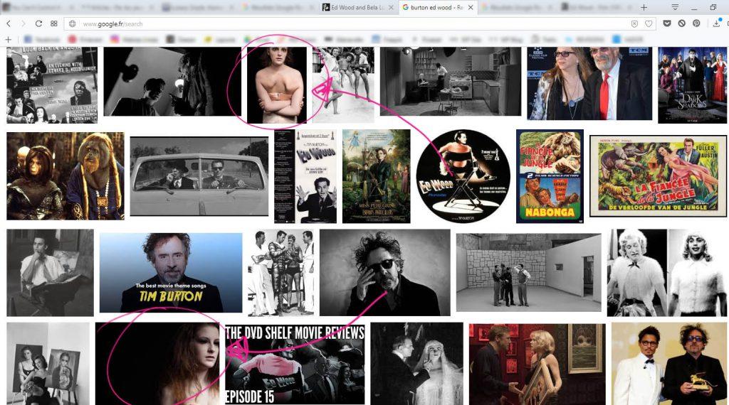 """recherche Google image pour """"burton ed wood"""" avec mes photos de monstres"""