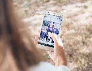 réseaux sociaux: vue d'Instagram, compte de @yeux.coccinelle