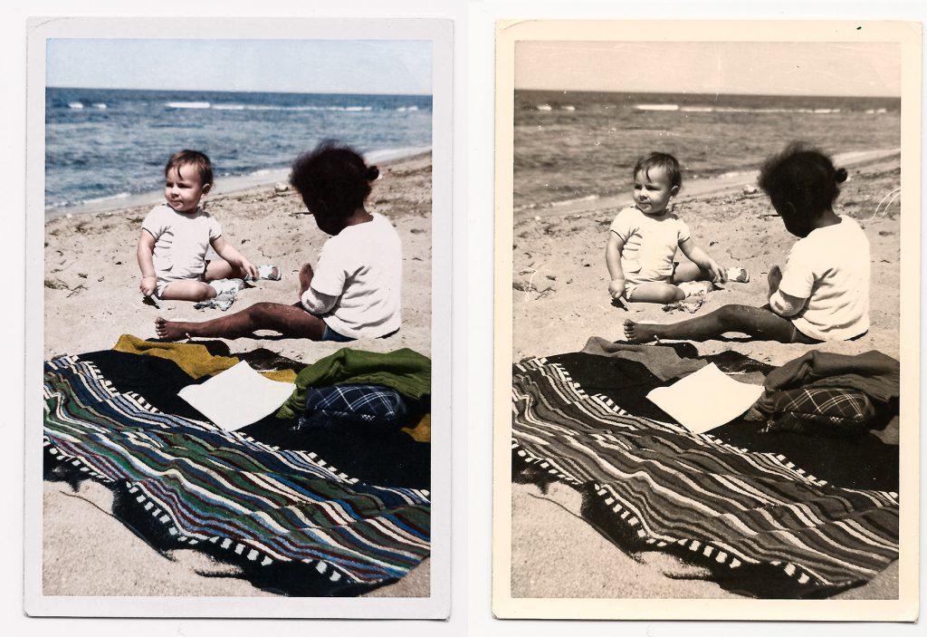 Restauration d'image ancienne, exercice de précision et d'exigence, première année à Gobelins.