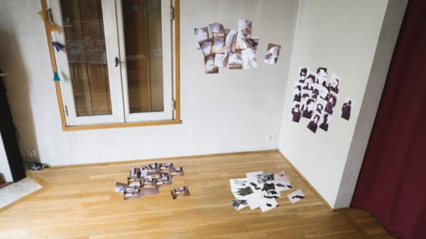 scénographie d'Accumulation par Léa Fiterman