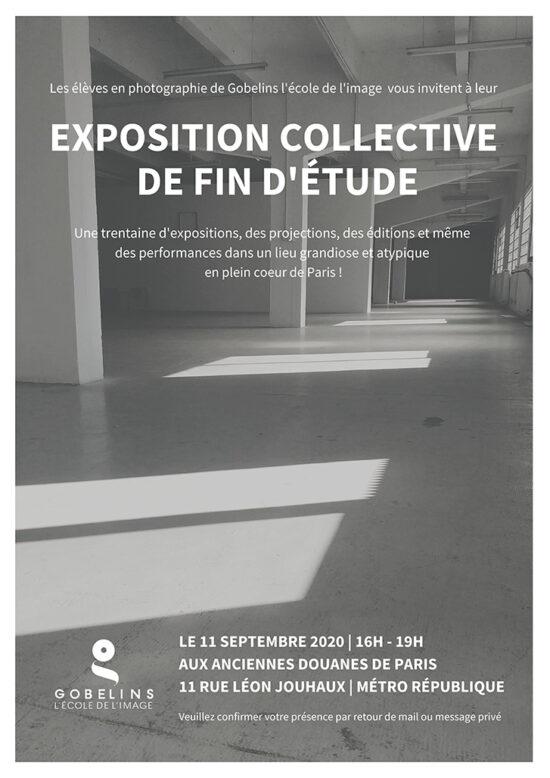 Exposition de fin d'étude des étudiants en photographie de Gobelins, promotion 2020