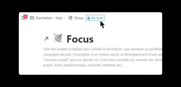 template notion pour les étudiants : database focus dévérrouillée