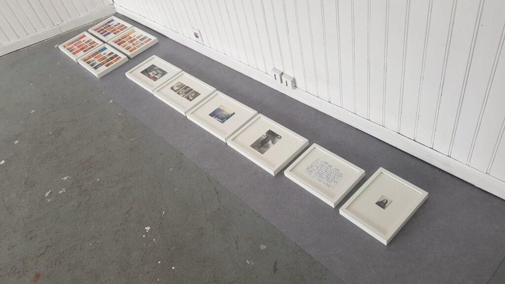 backstage de l'installation aux douanes du projet de mémoire de charlotte moricand