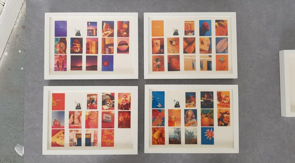vue des cadres pour l'expositions aux douanes, photos par charlotte moricand