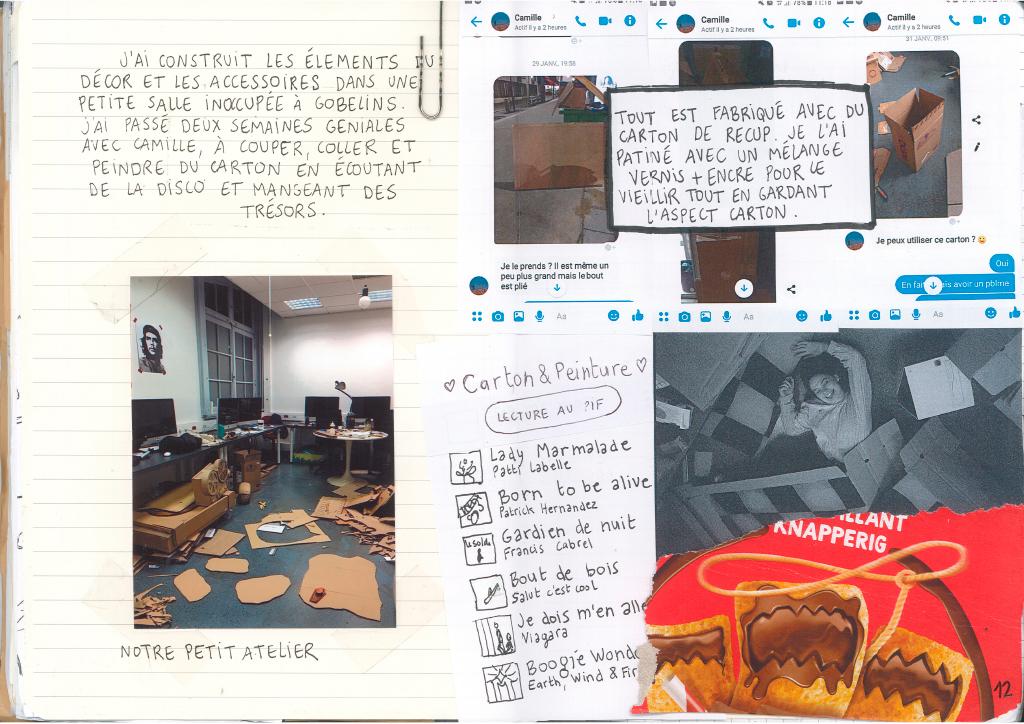 Journal de bord de Lisa Tiebout avec photos backstages