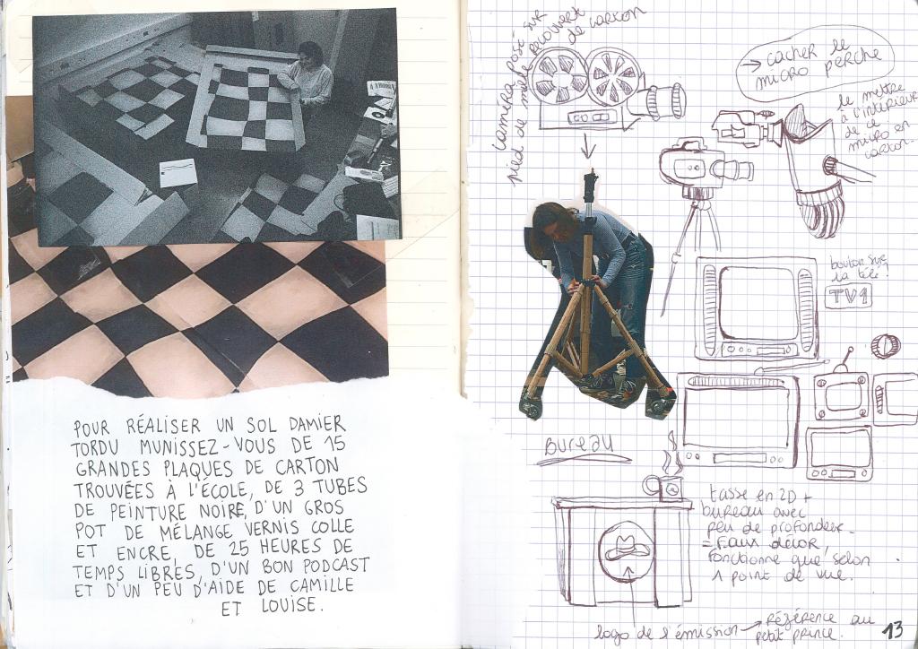 Journal de bord de Lisa Tiebout : construction du décor en carton