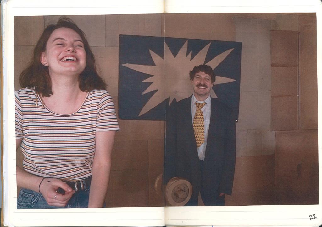 Lisa Tiebout et Perkins sur le plateau de l'émission